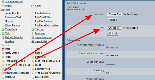 HRM Time Series Upload Field
