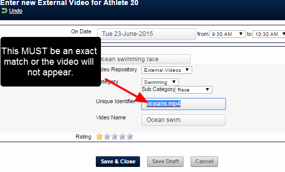 Write in the EXACT name of the video as it is written in the repository