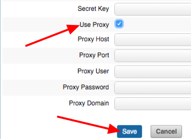 """N.B. Clients that have a Proxy will need to use the Proxy settings. Tick """"Use Proxy"""" and complete the details."""