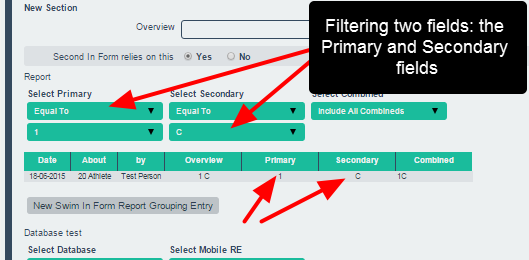 Multiple filters can be used to limit the data