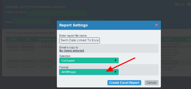 Choose how the date should be displayed in the csv file.