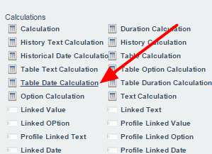 A new table calculation that outputs table calculations using date fields is available