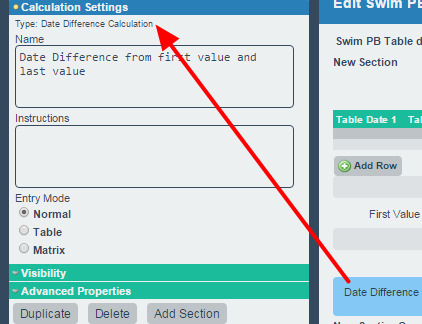 N.B. Table Date Calculation outputs can be used in other date calculations, like date difference calculations