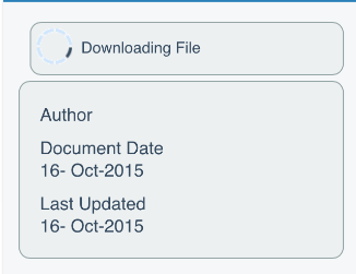 A Downloading File notification appears