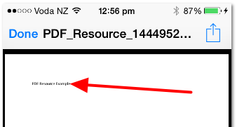 The Resource will appear in a separate page