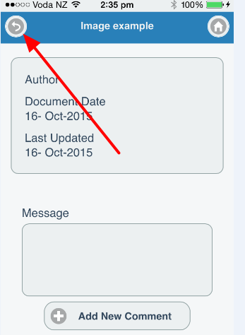 Then, click the Smartabase return arrow (use the return arrow in Smartabase ONLY) to return to the available Resources