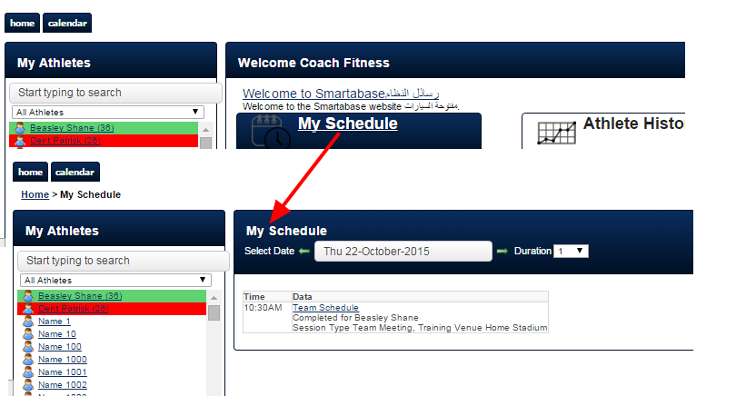 N.B. The My Schedule on the main app is not affected by the Schedule-Calendar system permission