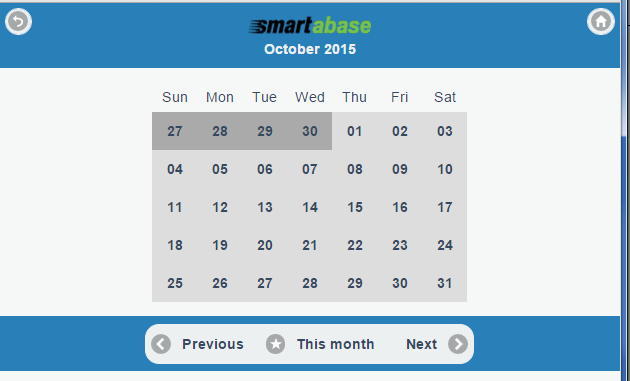 """When a user has the """"Schedule Calendar"""" permission, a month calendar appears before the schedule and a user can select the desired date to view"""