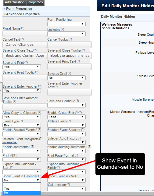 """On the Builder site, set the Forms' Advanced Properties for """"Show Event in Calendar"""" to """"No"""". This event will be hidden on the Calendar/Schedule Modules"""