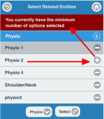 """You must always have at least one option selected. The message here shows that the """"minimum number of options is selected"""" (e.g. one)"""