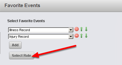 """Once you select the event forms click the """"Select Role"""" button"""
