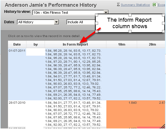 1.a In form reports hidden in Athlete History and Reports tables