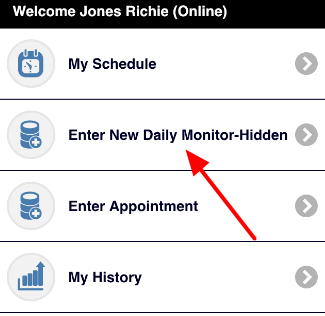 N.B. Depending on what access you have, and on how your forms are set up (e.g. if only schedule/appointment forms are set to appear on the My Schedule), your Event data may not appear on the My Schedule, which helps reduce clutter
