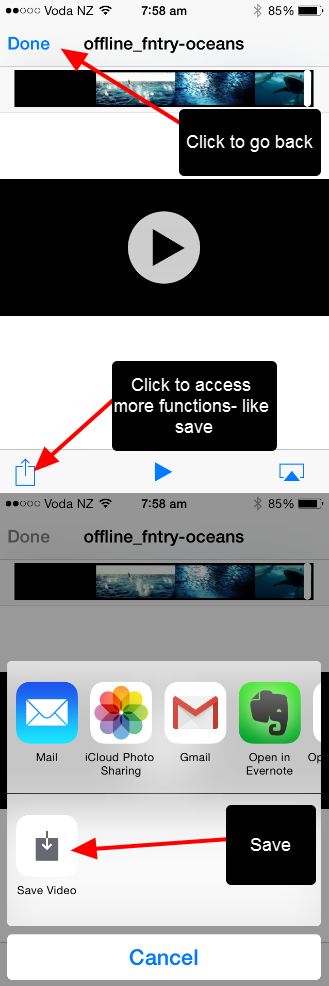 The video opens in a separate page. Click to access the additional functionality.