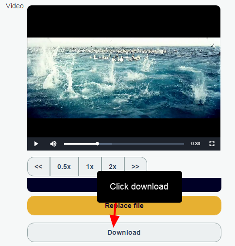 When online on the main app, m.html or iOS, the files can be downloaded. Note that speed will depend on your internet connection