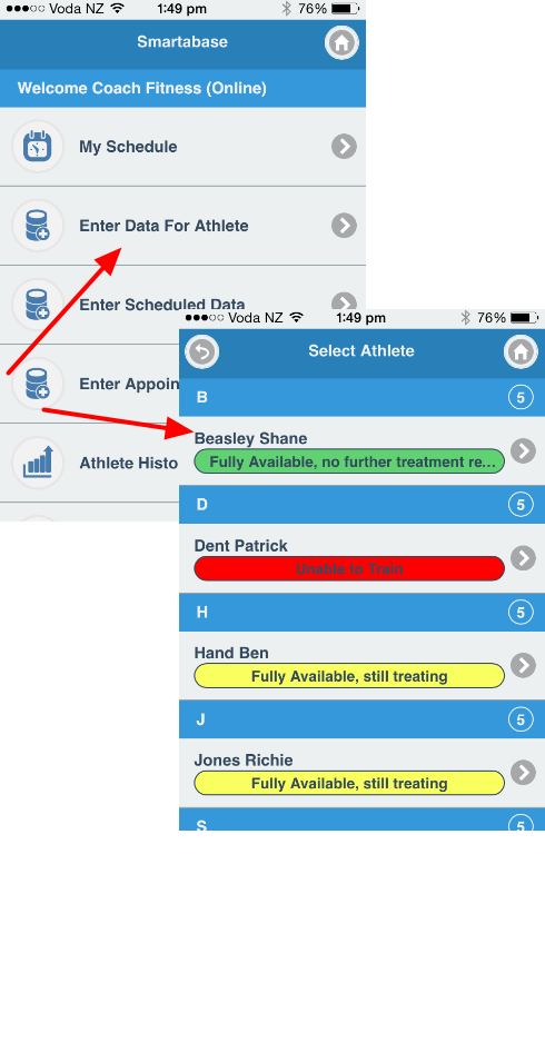 When entering in data on iOS the athlete and multi-athlete fields for an event form, you still need to select an athlete to enter the entry under (whether it is a Event/Appointment/Scheduled entry)