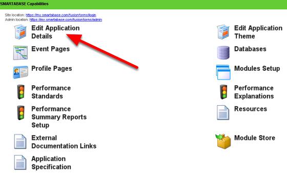 Edit Application Details