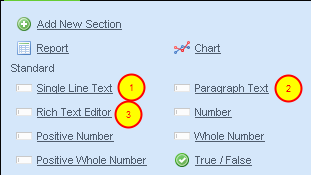What Text Fields are Available to add to your event form?