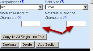 Maximum number of characters has been disabled. Please ignore this setting as it will be removed from the system