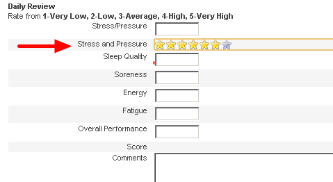 Ratings allow users to select a specific number of stars for a field. The number of stars can be set by you.
