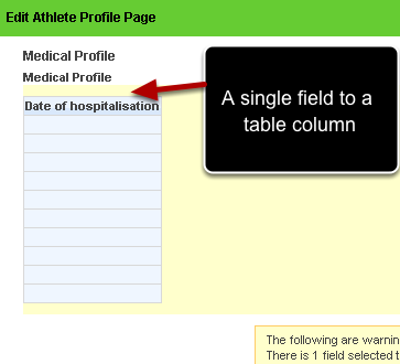 "Once you click ""Table"" the question will then automatically form a column with 10 rows"