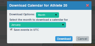 The iCal is downloaded (or subscribed to)