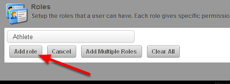 Once you have selected the correct role, click add to Roles