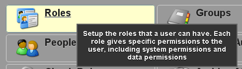 A Role MUST be given to each User or they will not be able to login and access the system.