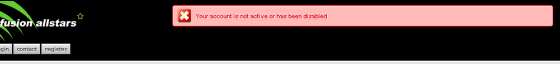 If the autoactive button is NOT ticked, then the user will receive the following message when trying to login