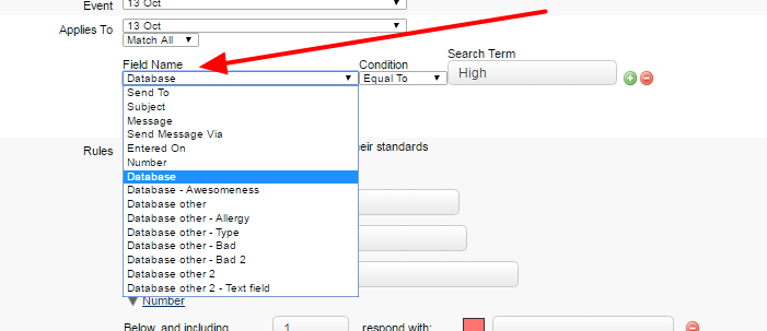 This filter is set using specific fields from an Event Form. Any performance standards set with these filters WILL impact loading time