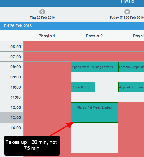 With the 60 min interval, no users can book in anything for this form until 2:00pm!