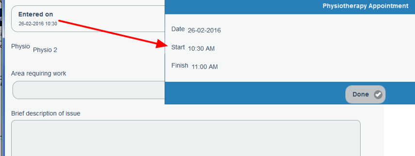 N.B. When booked, the time defaults to 30 min (as per the Event Length advanced form property)