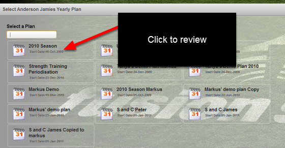 "You can see which plans have been assigned to an athlete when you click on ""Yearly Plans"", ""View Athletes Plan"". You can open these plans and review them, but not edit them."