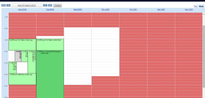 N.B. If availability is set up for the chosen Related Entity field, unavaible periods will appear as blocked out.
