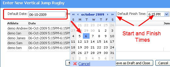 Select the Correct Date and time that you want the event to be saved