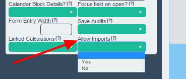 "There is a new Advanced Form Property called ""Allow Imports"". By default it is set to Yes which ensures each form appears in the Import Data Event Form List"