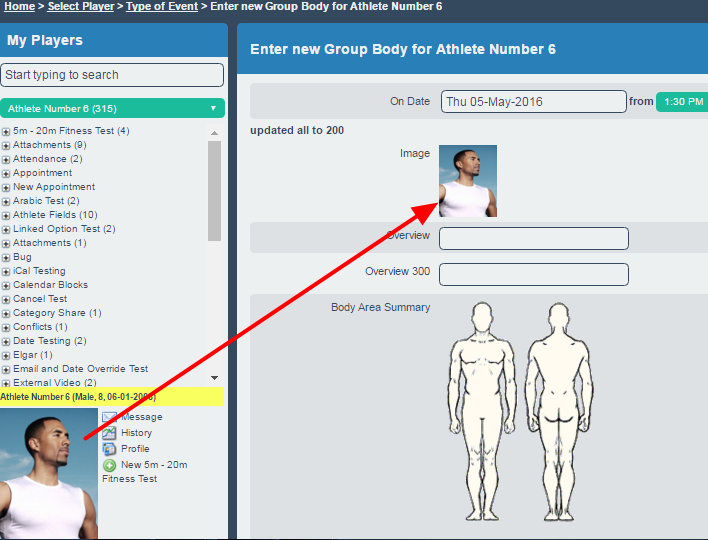 When the form is selected that includes the Profile Picture Personal Details field the picture will display and can be saved with the form