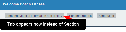 All of the Modules in that Section then become dropdowns that display when the Tab is selected