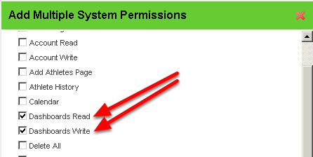 Dashboards: These Modules have been disabled in the system for removal or further development. Including this permission will not affect a users site