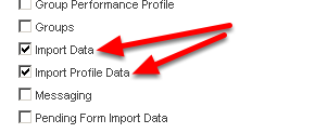 Import Data and Import Profile Data allows a user to import data into an Event Form or a Profile Form from a .csv format
