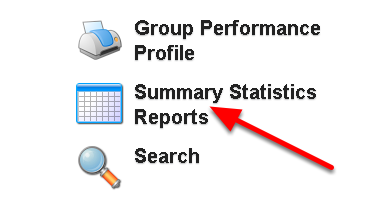The Summary Statistics Report button appears on the Home Page of the main site