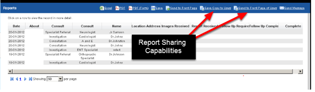 The two new Report Page capabilities for sharing reports, or setting up home page reports on other users' systems are shown here