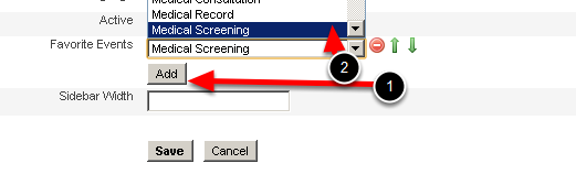 In the accounts click Add and then choose from the list of Event Forms in the drop down box