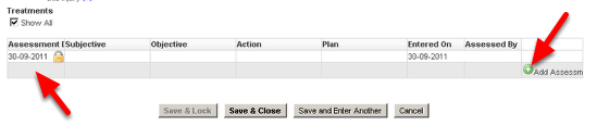 2.a Previously, the Add Row button used to be positioned on the right of the Table and then you had to click in the first cell to start entering data into the new row.