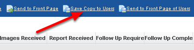 """2.0 Once the report loads click on the """"Save Copy to Users"""" and then you will need to name the report (as shown in the step below)"""