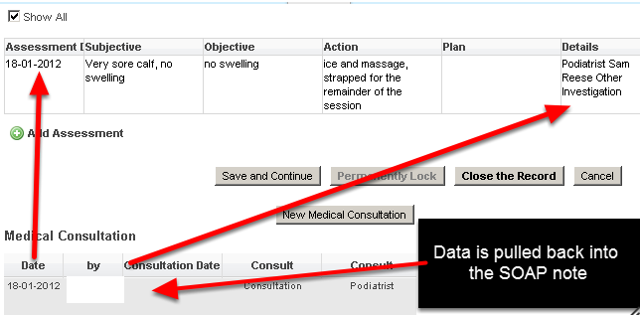 If your system is set up to pull data from a related event form into the SOAP notes, ensure it is date matched.