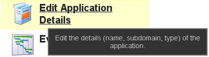 """To view the Application Details click on """"Edit Application Details"""""""