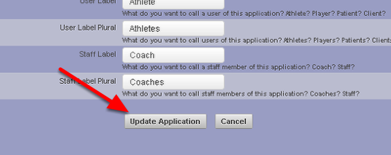 """Once you make changes to the Application Details these can be saved by clicking the """"Update Application"""" button. We strongly recommend that you check with your Distributor before updating ANY of these settings."""
