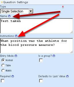 When you add in a new Field, the Section Settings Section is open for you to edit. Write in the Field Name (one of the most important components to add) and any Instructions for that field.