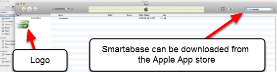 """Your system can now be accessed via an Apple iPad and/or iPhone application. The application name in the App store name is called """"Smartabase"""""""